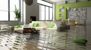 Water damage in flooded home Alpharetta Ga