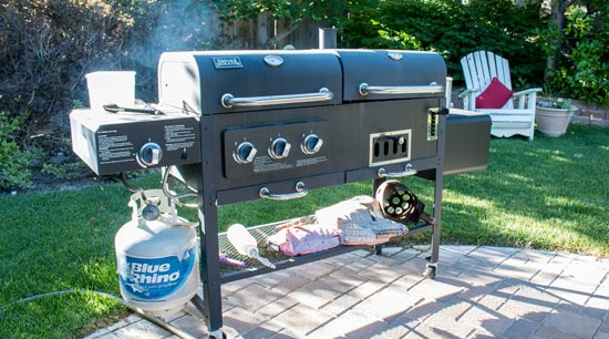 Barbecue safety gas grill location