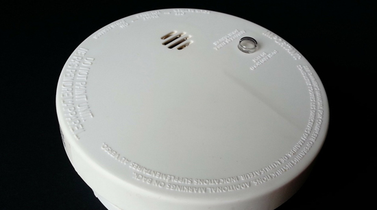 Winter home safety smoke and fire alarm