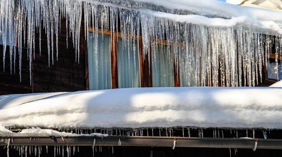 Winter home safety tips roof and gutter damage