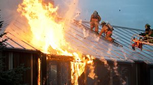 Fire and water damage quickly occur during a house fire