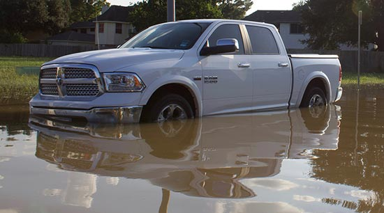 Water damage to vehicles is covered by comprehensive automobile insurance