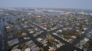 Widespread home flooding caused by rising storm surge