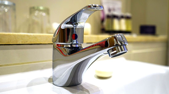 Hot water faucets commonly leak in the bathroom utility room and kitchen