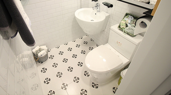 Mobile home plumbing toilet and sink