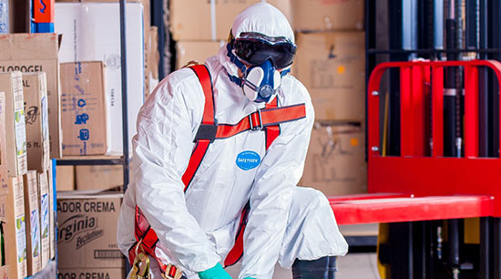 Category three water damage requires full protective equipment for personal safety